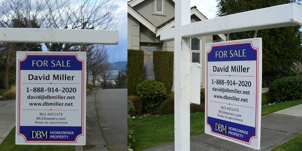 Real Estate yard sign